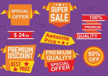 Free Origami Design Vector Labels - Kostenloses vector #379093