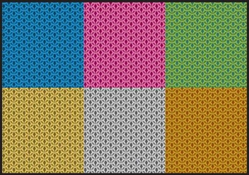 Colorful Chainmail Patterns - Free vector #379673