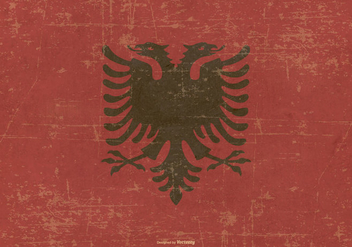 Grunge Style Flag of Albania - Free vector #379723