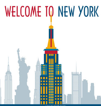 New York postcard - vector gratuit #379823
