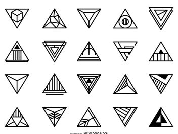 Triangular logo set - Free vector #379873