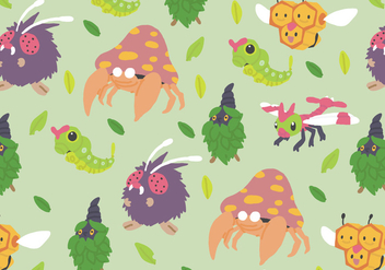 Bug Type Pattern - Free vector #380233