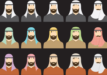 Types Of Keffiyeh - Free vector #380273