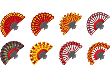 Spanish fan icons - vector #380353 gratis