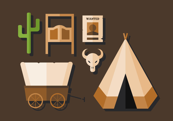 Vector Cowboy and Wild West Pack - Free vector #380383