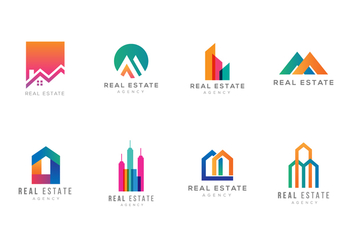 Free Real Estate Logo Templates - vector gratuit #380443