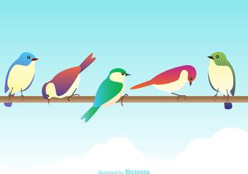 Free Vector Colorful Birds - Free vector #380453