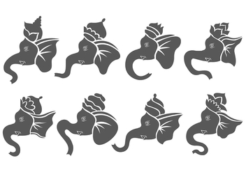 Ganesh Vector Icon Pack - vector gratuit #380513
