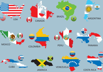 Americas Maps - Free vector #380593