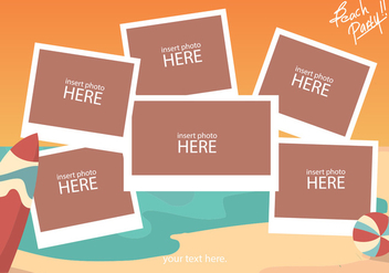 Beach Photo Collage Template - vector gratuit #380603