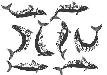 Mackerel icons - vector #380653 gratis