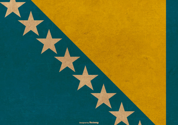 Grunge Flag of Bosnia - Free vector #381323