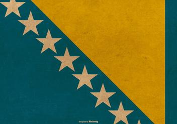 Grunge Flag of Bosnia - Kostenloses vector #381323