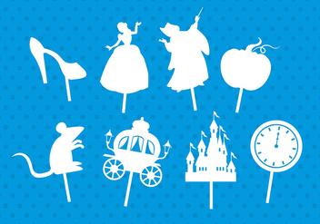 Cinderella shadow puppets - Free vector #381493