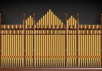 Pipe Organ Vector - Free vector #381503