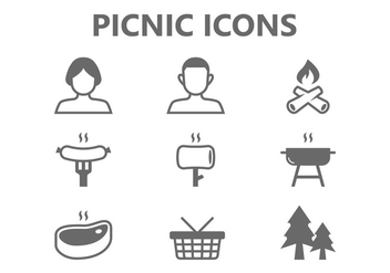 Picnic Icons - vector #381753 gratis