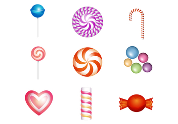 Free Sweet and Candies Icon Vector - vector gratuit #381793