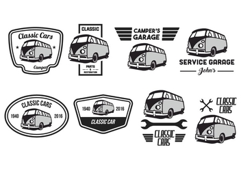 Free Classic Car Vector Pack - бесплатный vector #381913