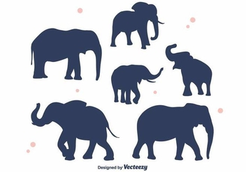 Elephant Silhouette Vector - Kostenloses vector #382093