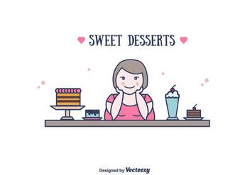 Sweet Desserts Vector - vector #382113 gratis