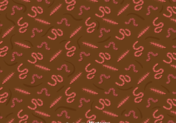 Earthworm Pattern Background - Free vector #382593