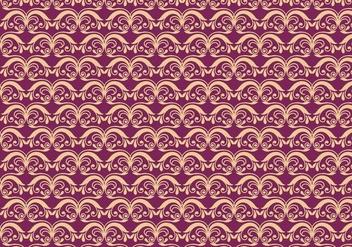 Magenta Vector Western Flourish Pattern - бесплатный vector #382603