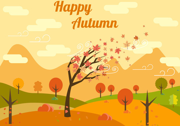 Free Autumn Vector Illustration - Free vector #382743