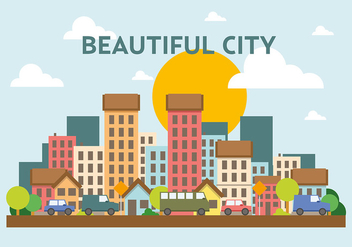 Free Vector Cityscape - Free vector #382763
