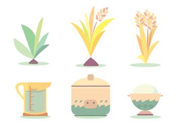 Rice Cook Cycle Vector Set - vector #382973 gratis