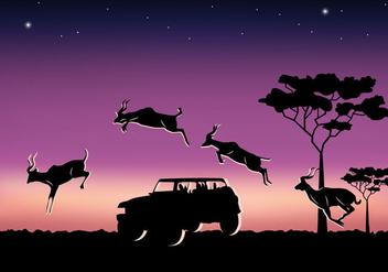 Jumping Kudu - vector gratuit #382993