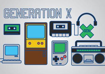 Generation X Vector - Kostenloses vector #383163
