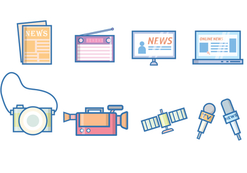 Free News & Journalism Vector - бесплатный vector #383393