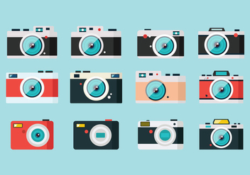 Graphic Set Camera - Kostenloses vector #383473