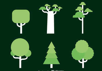 Tree Collection Vector - Free vector #383663