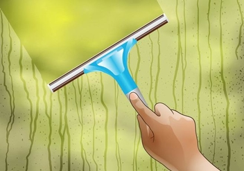 Window Cleaning Vector - vector #383733 gratis