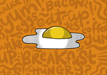 Fried Egg Breakfast Vector - Free vector #383773