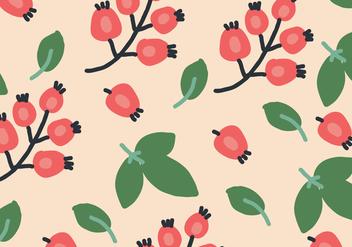 Organic Rosehip Pattern - Free vector #383783