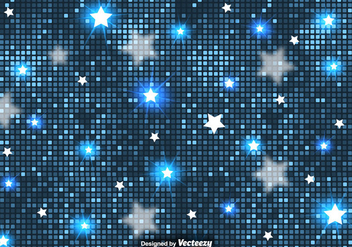 Vector Abstract Background Of Blue Stars And Tiles - Kostenloses vector #383913