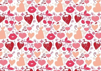 Free Vector Love Doodle Background - Free vector #383953