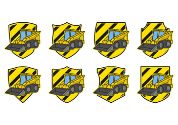 Free Skid Steer Badge Vector - Free vector #384063