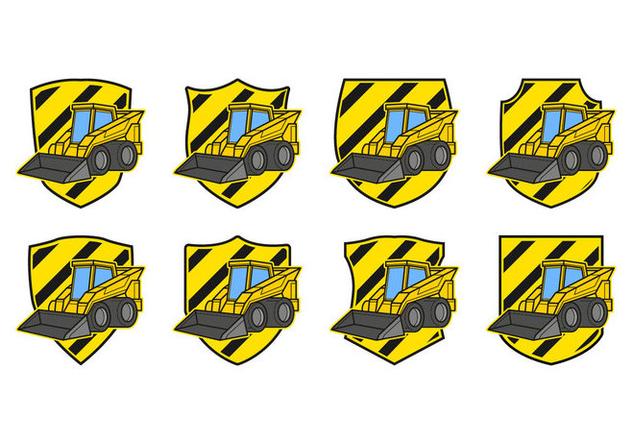 Free Skid Steer Badge Vector - vector gratuit #384063