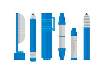 Vector Blue Pens - Kostenloses vector #384483