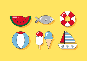 Delicious Beach Vectors - vector gratuit #384533