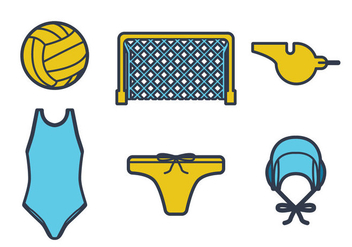 Water Polo Vector - vector gratuit #384563