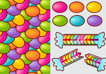Smarties Candy Gradient Vector Elements - vector gratuit #384783