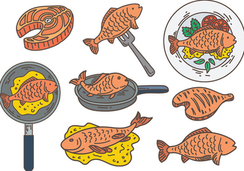 Free Fish Fry Icons Vector - бесплатный vector #384813