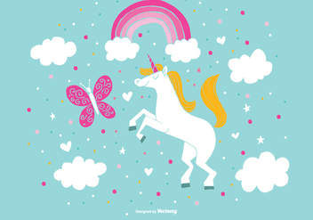 Adorable Unicorn Vectors - vector gratuit #384843