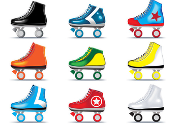 Vector set of Roller Derby - Free vector #384873