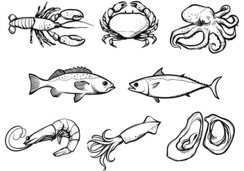 Free Seafood Vectors - Free vector #384973