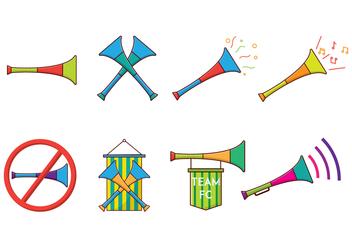 Free Vuvuzela Vector - vector #385253 gratis